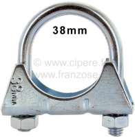 Exhaust clip 38mm (clamp clip). Thread: M8 | 42353 | Der Franzose - www.franzose.de