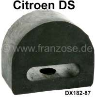 Exhaust stop rubber for the rear muffler. Suitable for Citroen DS. This rubber prevents a damaging of the exhaust to the floor of the car. Per piece. Or. No. DX18287 | 31017 | Der Franzose - www.franzose.de