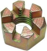 Crown nut M12 x 1,75. Suitable for the steering arm + tie rod. Citroen 11CV + 15CV. | 60135 | Der Franzose - www.franzose.de