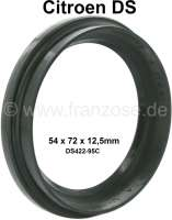 Shaft seal (high version) for the radius arm. In front + rear fitting. For Citroen DS. Dimension: 54 x 72 x 12,5mm. Or. No. D422-95C. Made in Germany. - 33155 - Der Franzose
