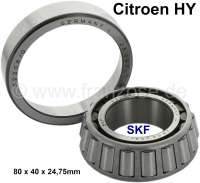 Swing arm bearing inside. Suitable for Citroen HY. Outside diameter: 80,0mm. Inside diameter: 40,0mm. Width : 24,75mm. Or. No. ZC9620006U - 48061 - Der Franzose