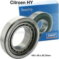 Swing arm bearing outside. Suitable for Citroen HY. Outside diameter: 100,0mm. Inside diameter: 55,0mm. Width : 26,75mm. - 48209 - Der Franzose