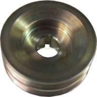 Generator double belt pulley (for 2 x 9.5 V-belts). Suitable for Citroen DS. Inside diameter: 17mm. Outside diameter: 67mm. -1 - 34097 - Der Franzose