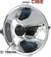 Headlight reflector (without glass). Headlight system