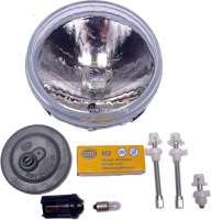 Reflector universal, manufacturer Hella. This reflector can be used for Marchal auxiliary headlight. Bulb: H3. Diameter: 124mm. Light output: 120mm. - 34307 - Der Franzose