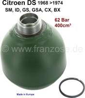 Pressure accumulator ball, reproduction. 400ccm, 62 bar. Suitable for Citroen ID-DS, BX, GSA, GS, CX, SM. - 32103 - Der Franzose