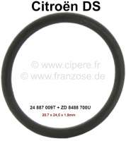 Safety valve, sealing ring (O-ring) largely. Hydraulic system LHM. Suitable for Citroen DS, apart from DV, DT, DP (D-Special, D-Super, D-Super5). Dimension: 20.7 x 24.5 x 1,9mm. Or. No. 24 887 009T + ZD 8488 700U. - 33292 - Der Franzose