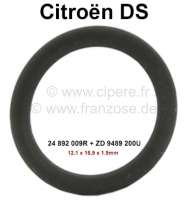 Safety valve, sealing ring (O-ring) small. Hydraulic system LHM. Suitable for Citroen DS, apart from DV, DT, DP (D-Special, D-premium, D-Super5). Dimension: 12.1 x 15.9 x 1,9mm. Or. No. 24 892 009R + ZD 9489 200U - 33293 - Der Franzose