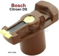 Bosch, distribution arm system Bosch. Suitable for Citroen DS21 + DS23 IE. Length over everything: 49mm. Height over everything: 30mm. Inside diameter: 14mm. Setting up depth: 18mm. Depending on availability, the distribution arm is supplied of another brand manufacturer. - 34070 - Der Franzose