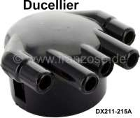 Ducellier, distributer cap, outlets lying next to each other. Suitable for Citroen DS 20, starting from year of construction 09/1965. DS 21, starting from year of construction 01/1970. Or. No. DX211-215A. - 34107 - Der Franzose