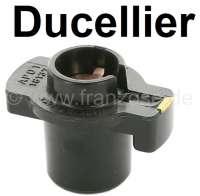 Ducellier, distribution arm, suitable for distributor cap 34034. Citroen DS + CX. Renault R4, Estafette, Renault rear engines. Peugeot 403, 404, 504, 304.  Distributor number 2388 Ducellier. Original supplier! Length over everything: 47mm. Height over everything: 35mm. Inside diameter: 14mm. | 32314 | Der Franzose - www.franzose.de