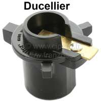 Ducellier, distributor arm, original manufacturer. Suitable for Citroen DS starting from year of construction 9/1972, CX up to 1980, HY. Renault R4GTL, R5, R16. Peugeot 204, 304S, 404, 504. Version D216. Length over everything: 46mm. Height over everything: 36mm. Inside diameter: 15mm. Made in France. | 34031 | Der Franzose - www.franzose.de