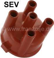 SEV, distributor cap SEV 1626. Suitable for Citroen 11CV. Renault R6TL, starting from year of construction 09/1970. R8 Major starting from 09/1964. Dauphine from 09/1962 to 1965. Caravelle from 05/1960 to 1964. Inside diameter: 63mm. Height over everything: 60mm - 82199 - Der Franzose