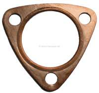Exhaust seal (triangular), connection manifold to the exhaust pipe. Suitable for Citroen 15CV. Diameter: 50mm. Or. No. 309213 | 60333 | Der Franzose - www.franzose.de