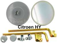 Mirror (round), 2 pieces. Suitable for Citroen HY, 1 series. Original