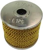 Oil filter L126. Suitable for Peugeot 403 Diesel. Peugeot 404 Diesel, to year of construction 09/1969. Citroen HY Diesel. Or. No. 1109.05 | 70752 | Der Franzose - www.franzose.de