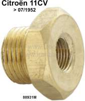 Screw pulp for the oil circuit. Suitable for Citroen 11CV, to year of construction 07/1952. Thread: M16 x 150. Or. No. 88931M | 60201 | Der Franzose - www.franzose.de