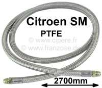 SM, oil cooler hose completely. Material: PFTE. Length: 2700mm. Temperature range: > 260°C. Pressure: > 60 bar. Suitable for Citroen SM. | 31307 | Der Franzose - www.franzose.de