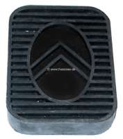Pedal rubber suitable for brake pedal + clutch pedal. Citroen 11CV/15CV. Dimension: 82.5 x 61 x 13mm. Or. No. 540983 | 60473 | Der Franzose - www.franzose.de