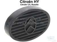 Pedal rubber oval, with Citroen emblem. Suitable for Citroen HY, C4, Rosalie. | 44010 | Der Franzose - www.franzose.de