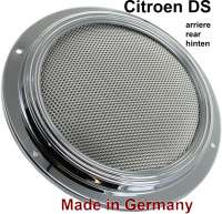 Rear speaker for Citroen DS. The loudspeaker is chromium-plated and mounted centrically in the rear window shelf. Good reproduction. 4 ohm input impedance! Made in Germany - 18516 - Der Franzose