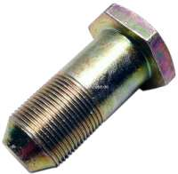 Screw for the rear axle securement. Suitable for Citroen 11CV + 15CV. Measurement: M25 x 1,5 (Wrench 35mm).  Or.Nr. 421356 | 60864 | Der Franzose - www.franzose.de