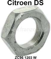 Nut, for the bumper mounting rear in the wheel housing. Suitable for Citroen DS. Or. No. ZC961203W - 37012 - Der Franzose