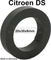 Rubber washer under the washer, for the nut of the bumper fixture rear. Suitable for Citroen DS sedan. Dimension: 20 x 30 x 6mm. Made in Germany. - 36545 - Der Franzose