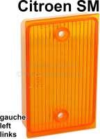 SM, reversing lamp cap on the left. Color: orange. Suitable for Citroen SM. | 35647 | Der Franzose - www.franzose.de