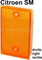SM, reversing lamp cap on the right. Color: orange. Suitable for Citroen SM. | 35648 | Der Franzose - www.franzose.de