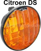 Turn signal glass rear, with reflector. Suitable for Citroen DS. Simple reproduction, black case. - 37304 - Der Franzose