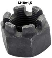 Crown nut M18x1,5. Low design. E.G. for ball pin Citroen HY. Or. No. ZC9441 178U - 20999 - Der Franzose