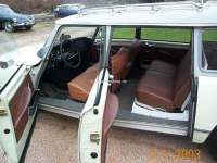 Covering rear seat (for one-piece rear seat bench). Suitable for Citroen DS BREAK. Leather tabacco. | 38153 | Der Franzose - www.franzose.de
