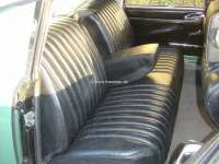 Covering rear seat (for one-piece rear seat bench). Suitable for Citroen DS BREAK. Leather black. | 38156 | Der Franzose - www.franzose.de