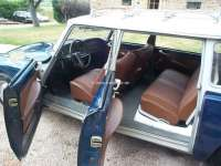 Covering rear seat (for one-piece rear seat bench). Suitable for Citroen DS BREAK. Vinyl brown (tabac). | 38159 | Der Franzose - www.franzose.de