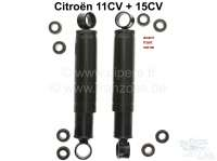 Shock absorber (2 pieces) oil pressure, for the front axle. Suitable for Citroen 11CV + 15CV. Or. No. 354396. Made in France - 60515 - Der Franzose