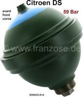 Sphere in front (suspension ball), screwed. Hydraulic system LHM. In the exchange. Suitable for Citroen DS. 700ccm. 59 bar. Plus 100 Euro Old part deposit. - 32109 - Der Franzose