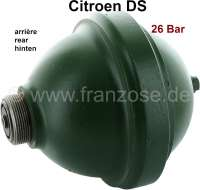 Sphere rear (suspension ball), screwed. Hydraulic system LHM. In the exchange. Suitable for Citroen DS. 700ccm. 26 bar. Plus 100 Euro Old part deposit. | 32105 | Der Franzose - www.franzose.de