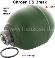 Sphere rear (suspension ball), welded. Hydraulic system LHM. Reproduction - new part. Suitable for Citroen DS BREAK, up to year of construction 11/1974. Citroen DS sedan, Installed starting from year of construction 11/1974. 37 bar. - 32111 - Der Franzose