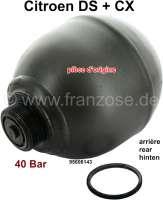 Sphere rear (suspension ball), welds. Hydraulic system LHM. Original Citroen. Suitable for Citroen DS + Citroen CX. 40 bar. Or. No. 95606143 | 32117 | Der Franzose - www.franzose.de