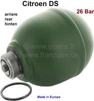 Sphere rear (suspension ball), welds. Hydraulic system LHM. Reproduction. Suitable for Citroen DS sedan. 26 bar. | 32317 | Der Franzose - www.franzose.de