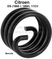 Benada spring, for the starter motor. Suitable for Citroen DS, of year of construction 1960 to 1968. Citroen 11CV. Inside diameter: 36mm. Outside diameter: 46mm. Length: 35mm. Wire size: 5,0mm. Or. No. 701805 | 32226 | Der Franzose - www.franzose.de