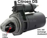 Starter motor of 9 teeth. With magnetic starting switch. In exchange (Made in Germany). Plus 150 Euro Old part deposit. - 34105 - Der Franzose