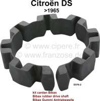Drive shaft securement at the gearbox, Bibax rubber. Per side. Suitable for Citroen DS19, to year of construction 1965. Or. No. D3762 - 30102 - Der Franzose