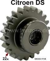 Reverse gear sliding sleeve (gear wheel, 44 teeth). For 4 gear + 5 gear gearbox. Suitable for Citroen DS. Or. No. 1D 5411 416P + DX333-111A. | 30375 | Der Franzose - www.franzose.de