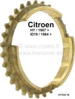 Synchronizer, suitable for Citroen HY, starting from year of construction 1967. Citroen ID, starting from year of construction 1964. Or. No. HY335-16 - 48111 - Der Franzose