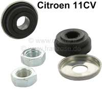Rubber seal outside on wiper axle (2 item, with metal disk), suitable for Citroen 11CV. Ground: Diameter down 13mm, diameter above 10,8mm, overall height of 5mm. - 60918 - Der Franzose