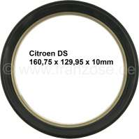 Wheel hub shaft seal wheel side (harder shaft seal), suitable for Citroen DS + Citroen HY. Dimension about 129.25 x 160.75 x 10mm. - 33233 - Der Franzose