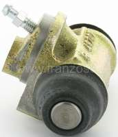 Wheel brake cylinder rear. Suitable for Citroen HY, of year of construction 1948 to 1958 (H 1200kg). HZ of year of construction 1949 to 1963 (HZ 850kg). Piston diameter: 19mm piston. Made in France -1 - 48217 - Der Franzose