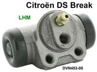 Wheel brake cylinder, hydraulic system LHM. Suitable for Citroen DS BREAK. The wheel brake cylinders are new parts! Or. No. DVN453-05 - 33019 - Der Franzose